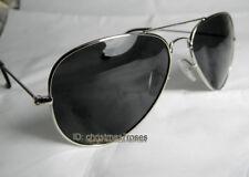 Men women aviator polarized Sunglasses super light metal silver/gun 52-18-140