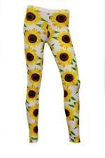 Classic Sunflower Floral Summer Garden Unique Printed Leggings