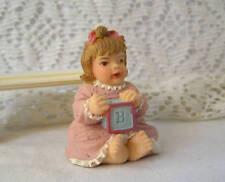 Miniature Dollhouse Cast Doll Figure  / Baby Allison