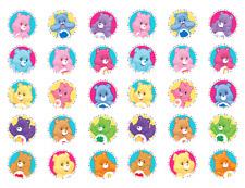 30 Care Bears Edible Image Cupcake Icing Rice Paper Pre Cut #2
