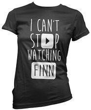 No puedo dejar de ver Finn-vlogger Star youtubers Niñas Camiseta Muchos Tamaños