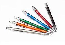 50 Metall-Kugelschreiber mit Wunschgravur Touch Pen iPad Werbung Stift NEU Kulli