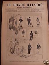MONDE ILLUSTRE 1886 N 1506  UNIFORMES DE L'ARMEE GREQUE