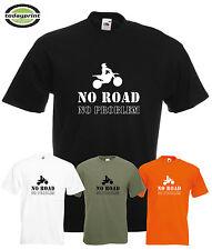 Heavy T Shirt NO ROAD, für Enduro, Adventure, Motocross, ktm, Dirt, Cross Fans