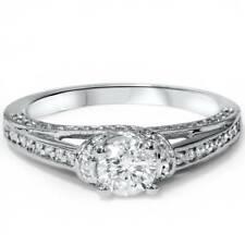 1ct Diamond Engagement Ring 14K White Gold