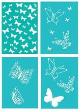 A4 Schablone FLAMINGO Vogel Tiere BB-Flex-Stencils selbstklebend