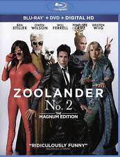 Zoolander 2 (Blu-ray + DVD + Digital, 2-Disc Set, 2016) Magnum Edition Slipcover