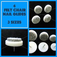 Felt & nylon nail on chair leg feet glides anti scratch wood floor potection x 4