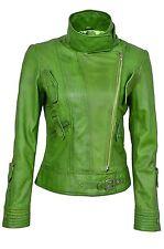 Lowa Lime Ladies Womens Retro Designer Real Soft Sheep Nappa Leather Jacket