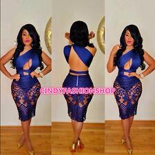 New Fashion 2016 Women Club Sexy One Shoulder Backless Slash Neck Bandage Dress