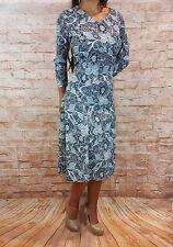 Abendkleid kurz Coctailkleid Herbst Winter Midikleid Kleid 3/4 Arm Gr.44-52 grau