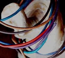Sonstige 6 Lederriemen Rind rund 2mm naturell Antiquitäten & Kunst