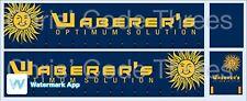 Code 3 Adhesive Vinyl Trailer Decal - Waberer's - 1/50 1/76 1/148