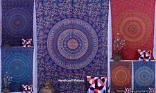 Mandala Elephant Hippie Boho Beach Sheet Wall Hanging Tapestry Home Decor Art