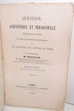 Question dernières découvertes sur la géographie et l'histoire de l'Inde, 1859