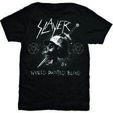 Slayer Men's Black Short Sleeved T-Shirt Dagger Skull Rock Band Official