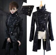 Manteau veste gothique lolita militaire steampunk laçages skull clous Punkrave