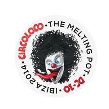 OFFICIAL Circo Loco DC10 Ibiza Melting Pot 2014 Clown Club Sticker RRP £8.00