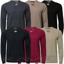 Mens Jumper Soft Cashmillon Fashion V-Neck Sweater Knitwear Pullover Kensington
