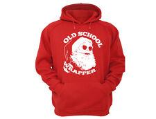 Santa Old School Wrapper Gift - UGLY CHRISTMAS Sweater Men Women HOODIE Red