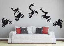 Wandaufkleber: Motocross Set - Motorrad Biker Wohnzimmer Kinderzimmer WandTattoo