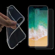 Transparent Schutz Hülle Silikon Schale Handyhülle Tasche + SCHUTZGLAS FOLIE