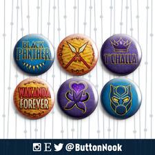 Black Panther Wakanda Marvel - Pin Badges / Magnets   Superheroes