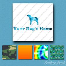 Custom Irish Wolfhound Dog Name Decal Sticker - 25 Printed Fills - 6 Fonts