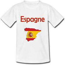 T-shirt Adulte Carte Espagne - du S au 2XL