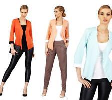 Damen Blazer Kurzjacke Jacke in 13 Farben Gr. M L 38 40,  M35