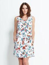 NOMADS Short Fitted Shift Dress Pinafore Wide Shoulder Straps Summer Sun Dress