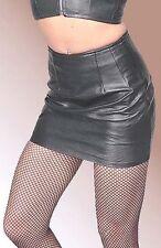 Black Lambskin Leather Mini Skirt