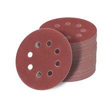 125 mm Exzenter Schleif papier Sandpapier 8 loch 36-1000 Körnung Haft Klett rot