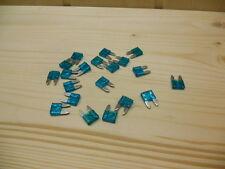 Flachsicherung 10mm 15A blau Mini Autosicherung KFZ Sicherung 2 bis 30Stück
