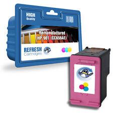 Refresh Cartuchos Color CC656AE 901XL Tinta Compatible con hp Impresoras