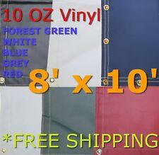 8' x 10' 10 Oz. Vinyl Waterproof Tarp - Truck Trailer Equipment Cover
