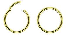 Piercing Schmuck Smooth Segment Ring vergoldet mit Clicker Verschluss in 1,0mm