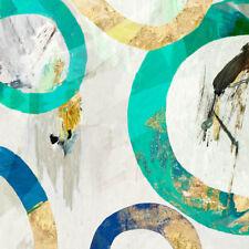 Tom Reeves: Verde Anillo II camilla-imagen de Pantalla Abstracto Círculos