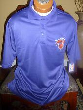 NEW YORK KNICKS team logo Majestic brand Blue polo Shirt NBA - NEW
