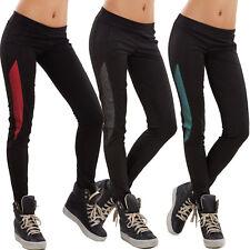 Pantaloni donna leggings sport fitness rete elastici palestra sexy nuovi OL-1013