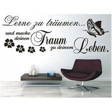 Wandtattoo Spruch  Lerne träumen Traum Leben Wandsticker Wandaufkleber Sticker ,