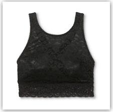 Xhilaration Women's High Neck Crossback Lace Bralette BLACK  S / XS / M / L / XL