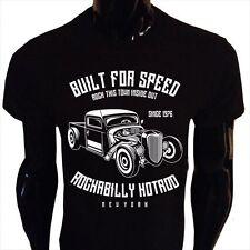 Built For Speed Rockabilly Hotrod T-Shirt Mens S-5XL Retro USA