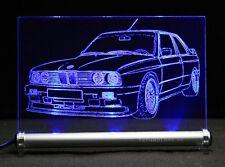 LED-Leuchtschild graviert ist BMW 3 E30  3er M3 als AutoGravur