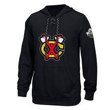 Chicago Blackhawks Reebok Center Ice TNT Speedwick Black Pullover Hoodie Men's