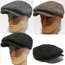 New Gatsby Cap Newsboy Ivy Hat herringbone Golf Driving Cabbie Flat Duckbill