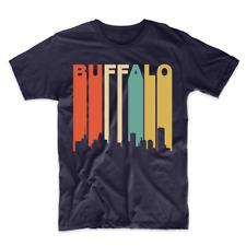 Retro 1970's Style Buffalo New York Cityscape Downtown Skyline T-Shirt