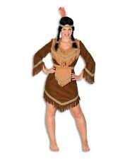 Indianerin braun Indianerkostüm für Damen Fasching Damenkostüm Indianerkleid neu