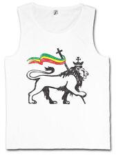 LION OF JUDAH II TANK TOP VEST Bob Rasta Reggae Marley Jamaica Rastafari Irie