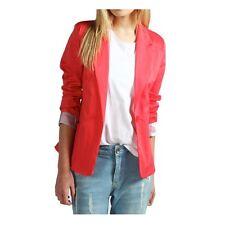 Womens Ladies New Casual Cotton Light Smart Button Blazer/Jacket (8-16) COLOURS